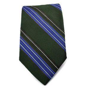Brooks Brothers Green Striped 100% Silk Tie. NWT
